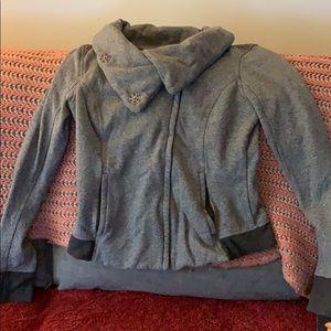 Lululemon side zip sweatshirt grey size 12